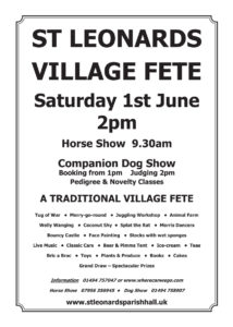 St Leonards Village Fete June 2019