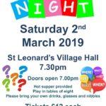 Cholesbury Church Quiz Night 2019